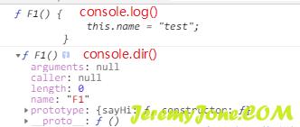 《JS的console中log和dir的区别》