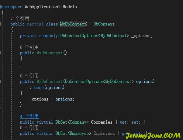 《.net core 3.x使用mysql EntityFramework》