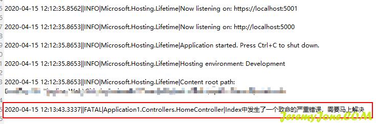 《.net core 3.x 使用NLog输出日志到文件》